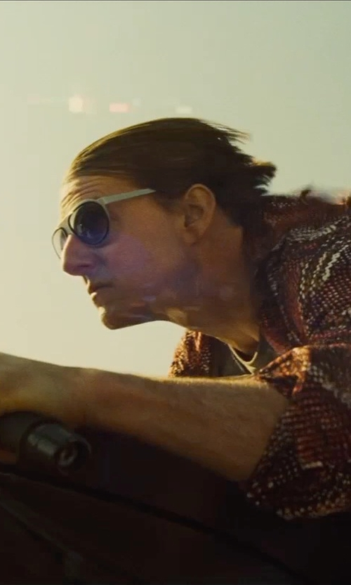 Tom Cruise with L. G. R. Comoros Stainless Steel Sunglasses in Mission: Impossible - Rogue Nation