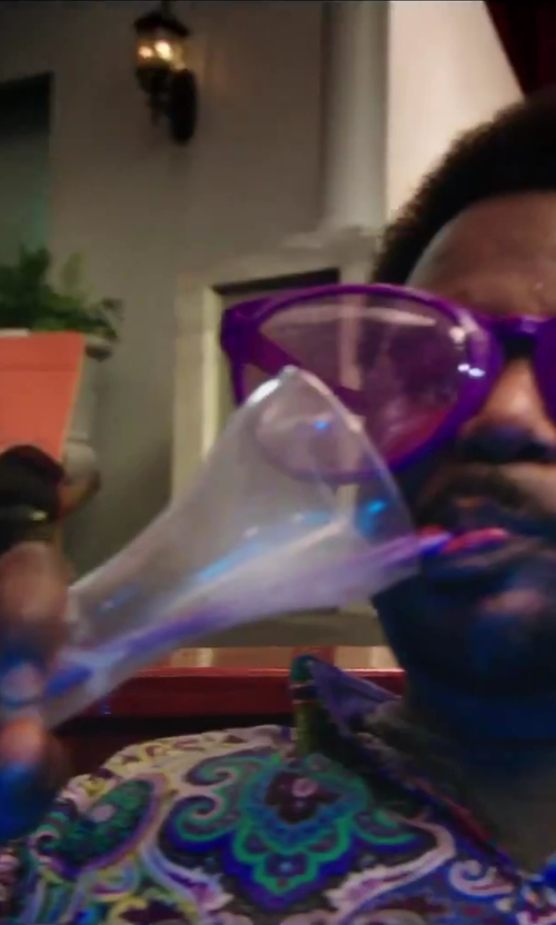 Craig Robinson with Libbey Half Yard Of Ale Glass With Stand in Hot Tub Time Machine 2