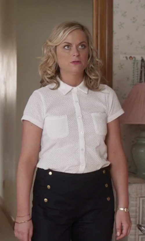 Amy Poehler with Céline Vintage Chest Pocket Shirt in Sisters