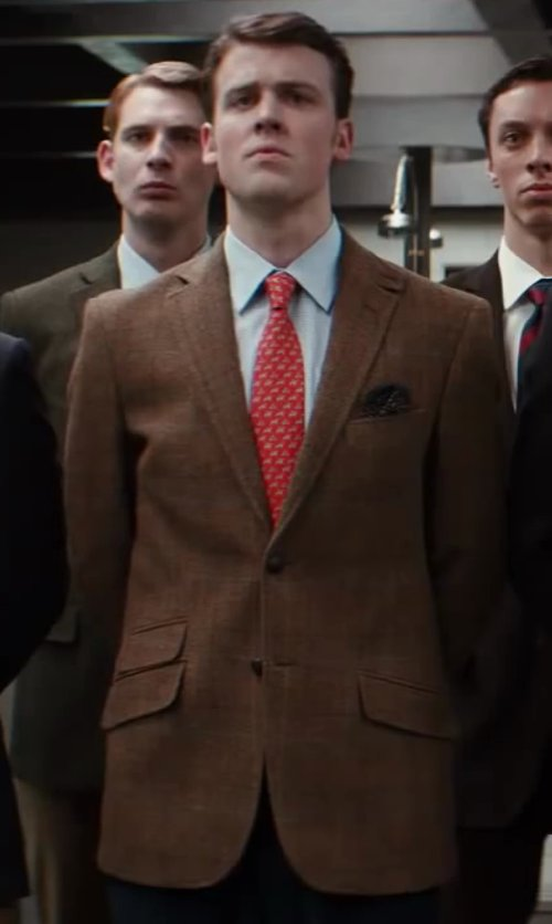 Matt Hookings with Tommy Hilfiger Check Wool Blazer in Kingsman: The Secret Service