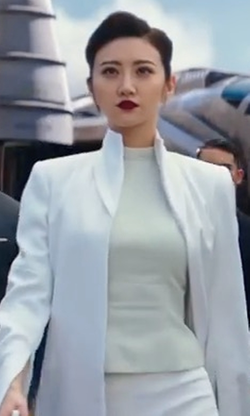 Tian Jing with Nic+Zoe The Perfect Mock Neck Top in Pacific Rim: Uprising