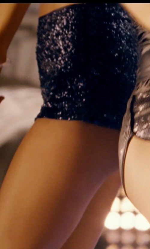 Unknown Actor with River Island Black High Waisted Velvet Sequin Shorts in Fast & Furious 6