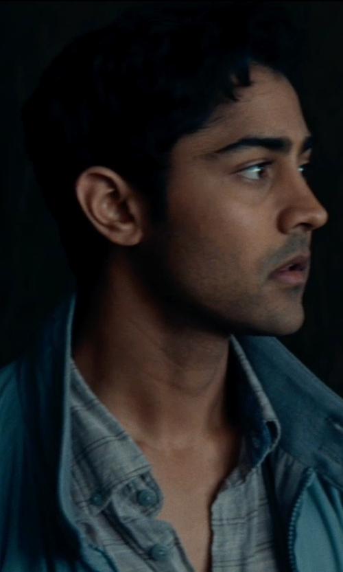 Manish Dayal with Nordstrom Smartcare Wrinkle Free Traditional Fit Plaid Dress Shirt in The Hundred-Foot Journey