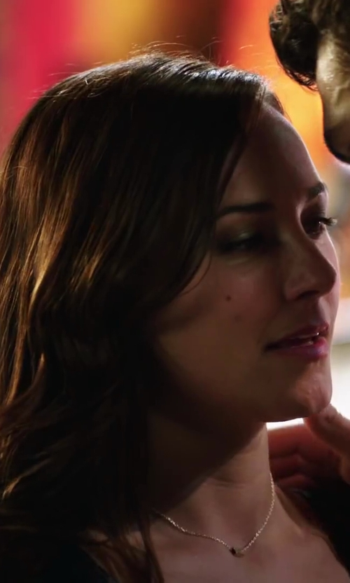Briana Evigan with Dana Rebecca Designs Lauren Joy Diamond Disc Pendant Necklace in Step Up: All In