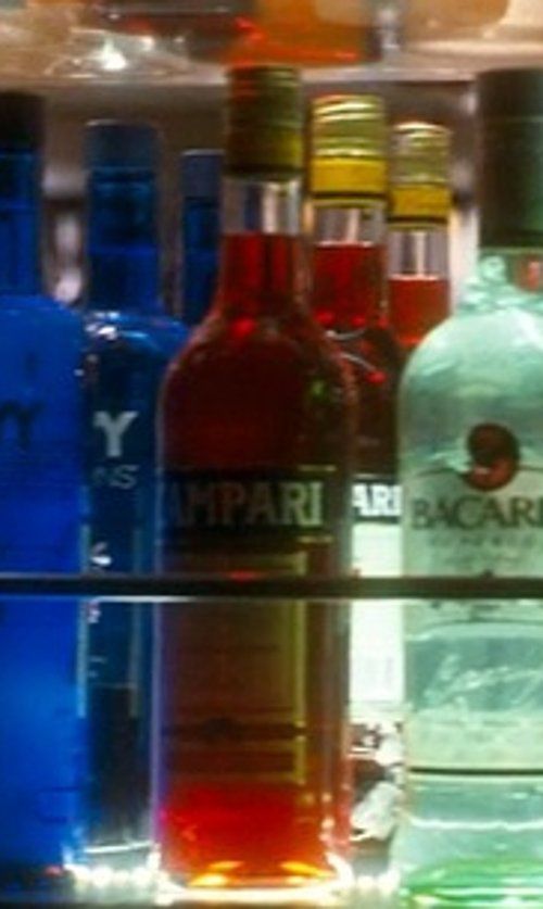 unknown with Campari Aperitif Wine in Crazy, Stupid, Love.