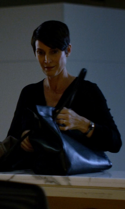Carrie-Anne Moss with Ivanka Trump Doral Work Tote Bag in Jessica Jones