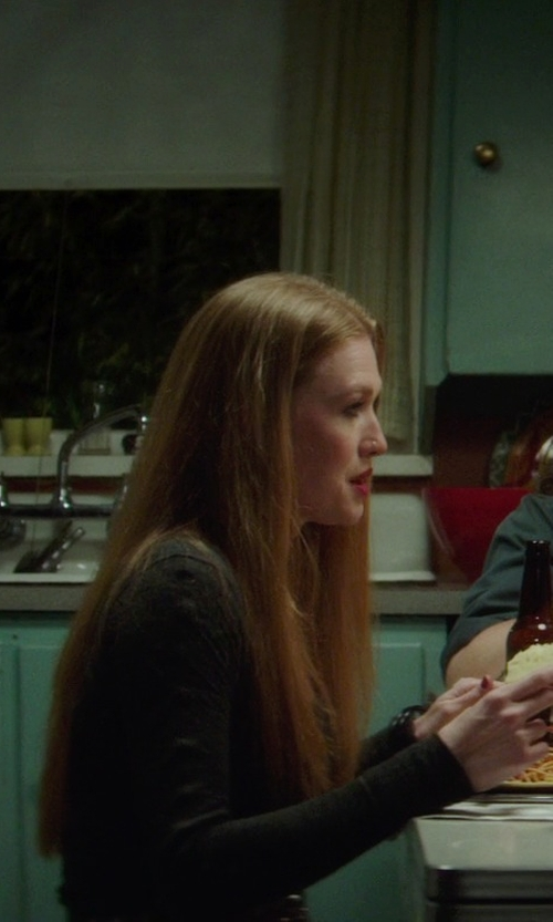 Mireille Enos with Three Dots Lightweight Viscose Crew Neck Long Sleeve T-Shirt in If I Stay