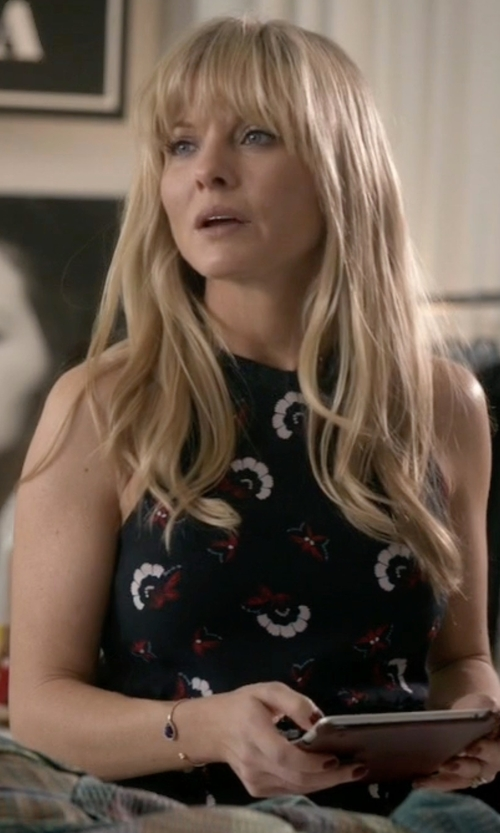 Kaitlin Doubleday with A.L.C. Tordi Print Silk Minidress (Modified) in Empire