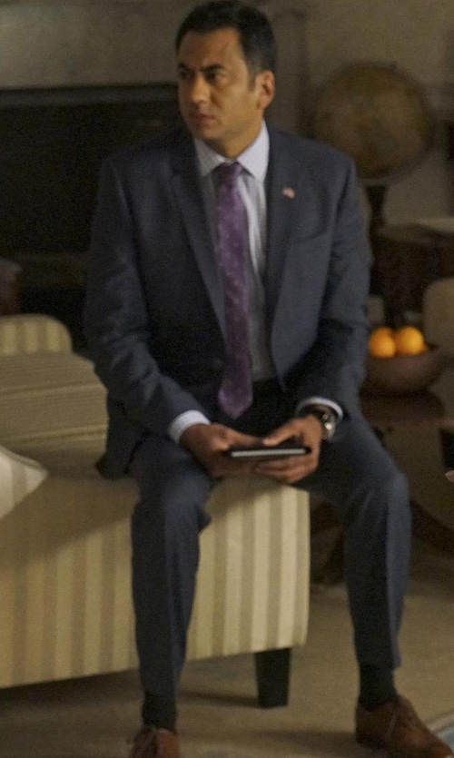 Kal Penn with Wolverine 1000 Mile Wesley Wingtip Chukka Boots in Designated Survivor