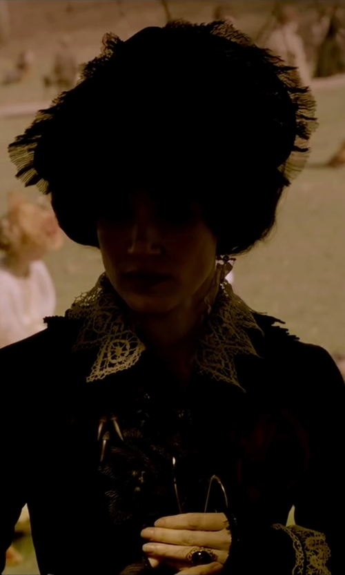 Jessica Chastain with Blanche's Place Lace Victorian Hat in Crimson Peak