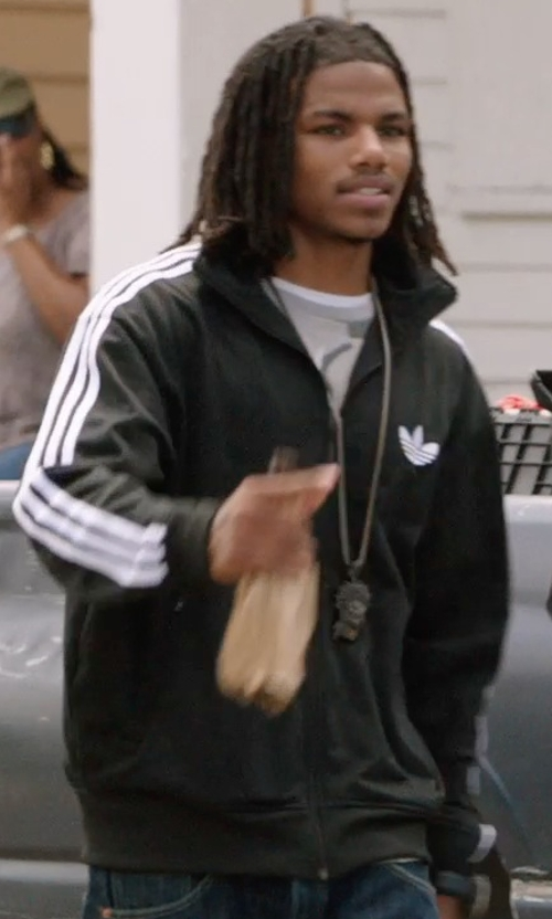 Unknown Actor with Adidas Originals Firebird Full-Zip Track Jacket in Get Hard