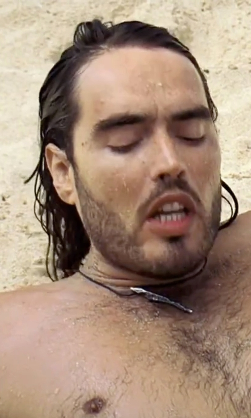 Russell Brand with Nashelle Spike Pendant Necklace in Forgetting Sarah Marshall
