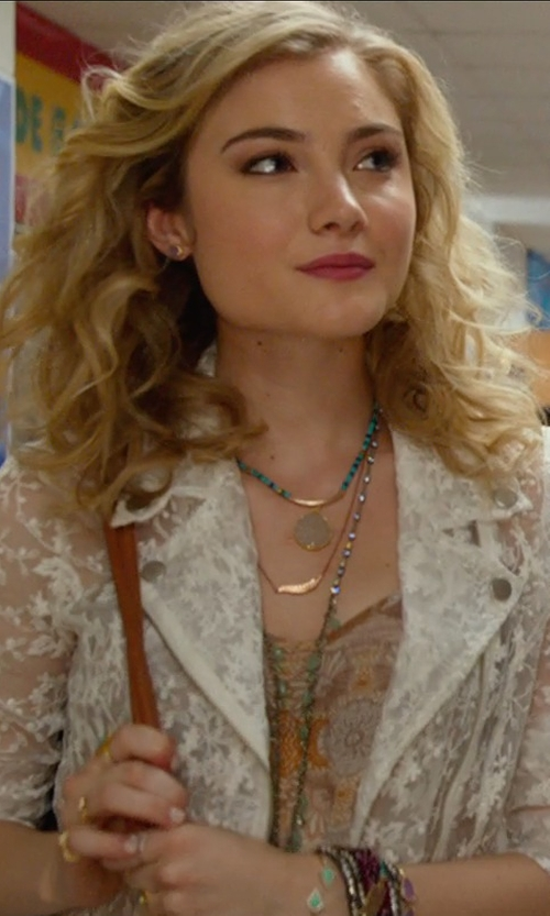 Skyler Samuels with Morgan Lace Blazer in The DUFF