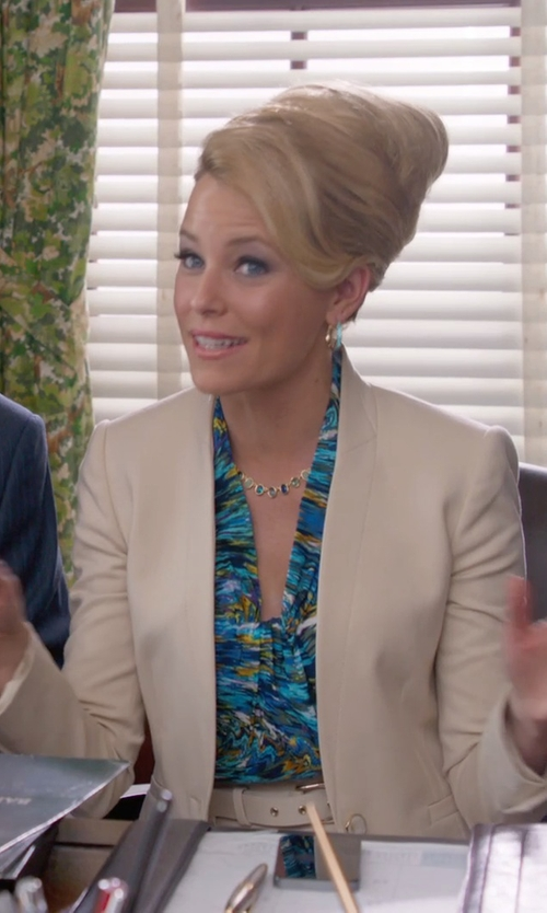 Elizabeth Banks with J Brand Emily Blazer in Pitch Perfect 2