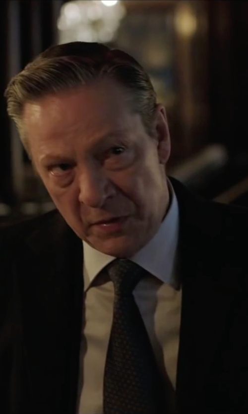 Chris Cooper with Tom Ford	 Mini-Dot Silk Tie in Demolition