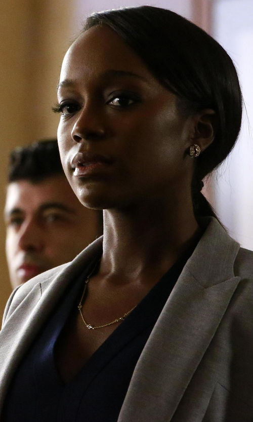 Aja Naomi King with Boss Jelenna Wool Jacket in How To Get Away With Murder