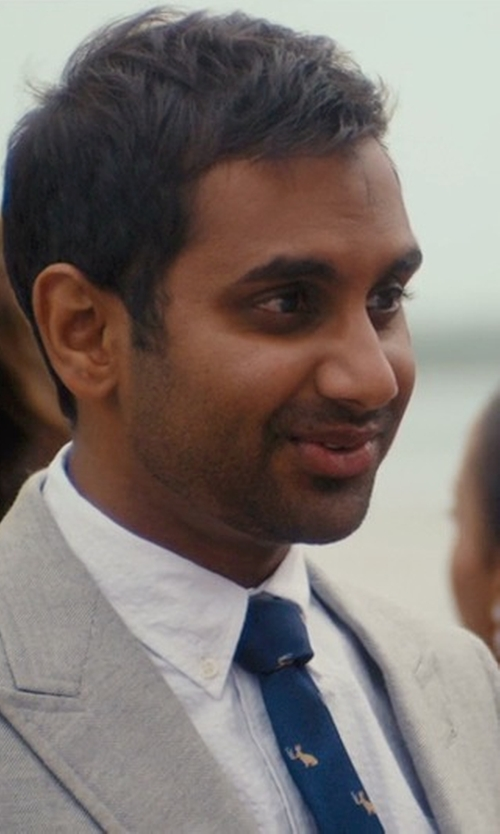 Aziz Ansari with Viyela Phesant Tie in Master of None