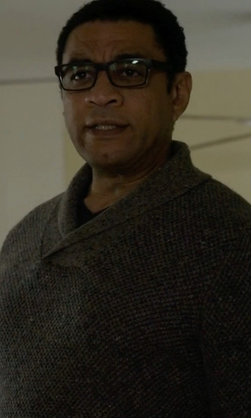 Harry Lennix with Ralph Lauren Rubber-Acetate Eyeglasses in The Blacklist