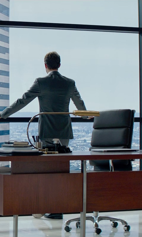 Jamie Dornan with Classics Mid-Century Designer High Back Office Chair in Leatherette in Fifty Shades of Grey