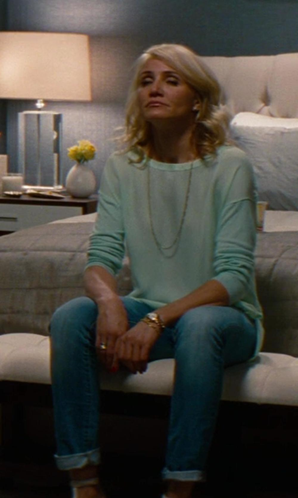 Cameron Diaz with Dolce & Gabbana Pretty Stretch Cotton Denim Jeans in The Other Woman