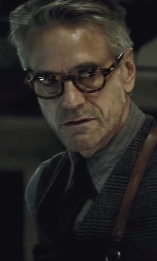 Jeremy Irons with Hugo Boss Pinstripe Dress Shirt in Batman v Superman: Dawn of Justice