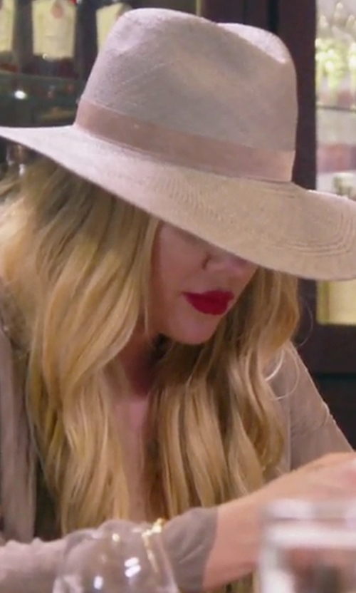 Khloe Kardashian with Janessa Leone Angelica Wide Brim Hat in Keeping Up With The Kardashians