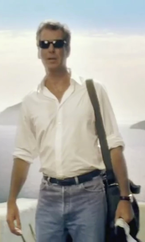 Pierce Brosnan with Hickey Freeman Reversible Leather Belt in Mamma Mia!