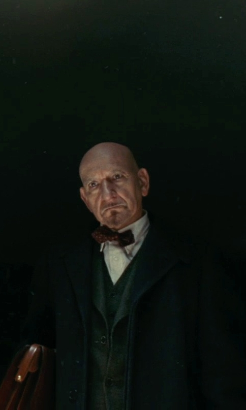 Ben Kingsley with Lauren Ralph Lauren Cashmere Columbia Overcoat in Shutter Island