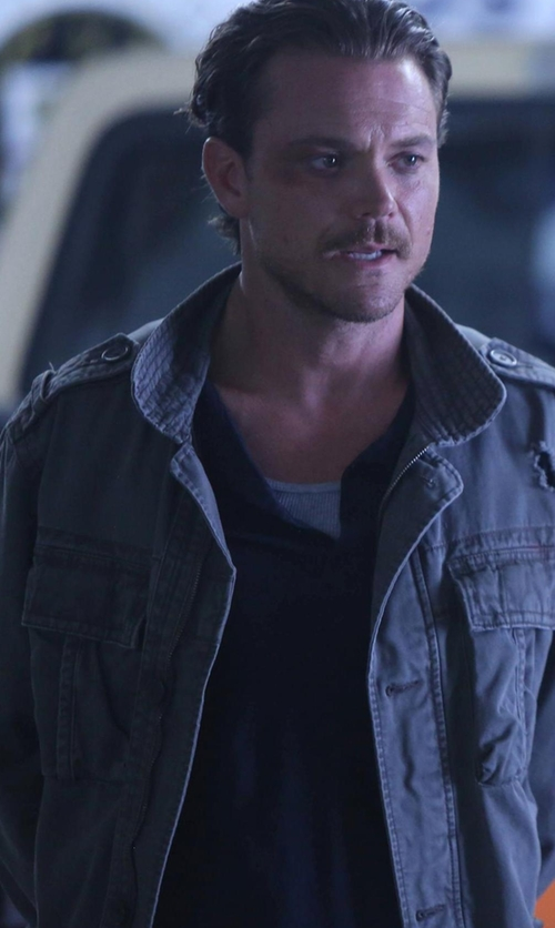 Clayne Crawford with Belstaff Trialmaster Jacket in Lethal Weapon