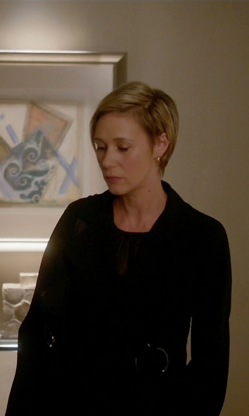 Liza Weil with MM6 By Maison Margiela Full-Length Jacket in How To Get Away With Murder