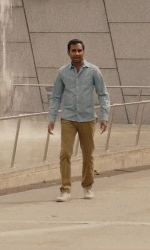 Aziz Ansari with Common Projects White Original Achilles Low Sneakers in Master of None