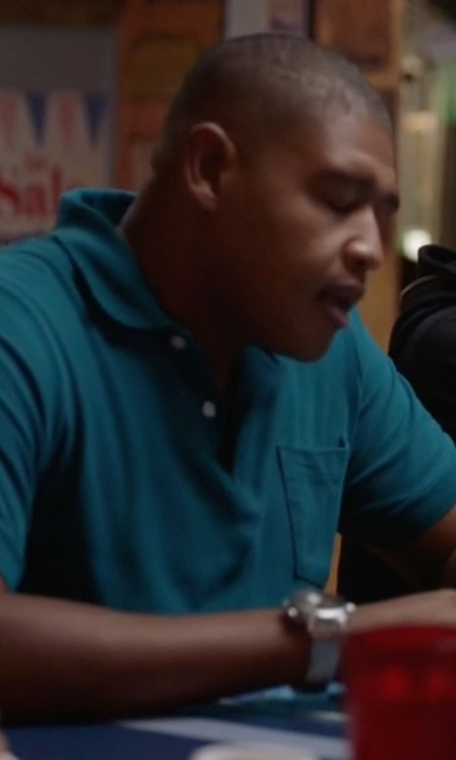Omar Benson Miller with Movado Bold Stainless Steel Watch in Ballers