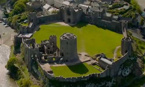 Unknown Actor with Pembroke Castle Pembroke, United Kingdom in Me Before You