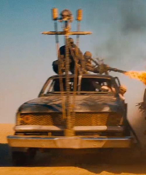 Unknown Actor with Ford Modified 1973 F-100 Pickup Truck in Mad Max: Fury Road