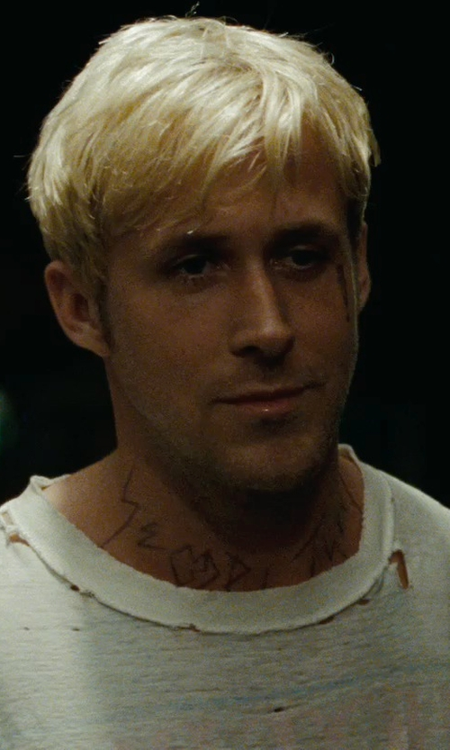 Ryan Gosling with Fruit of the Loom Men's Crewneck Tee Shirt in The Place Beyond The Pines