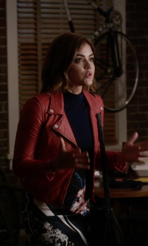 Lucy Hale with Michael Michael Kors  Collins Medium Satchel Bag in Pretty Little Liars