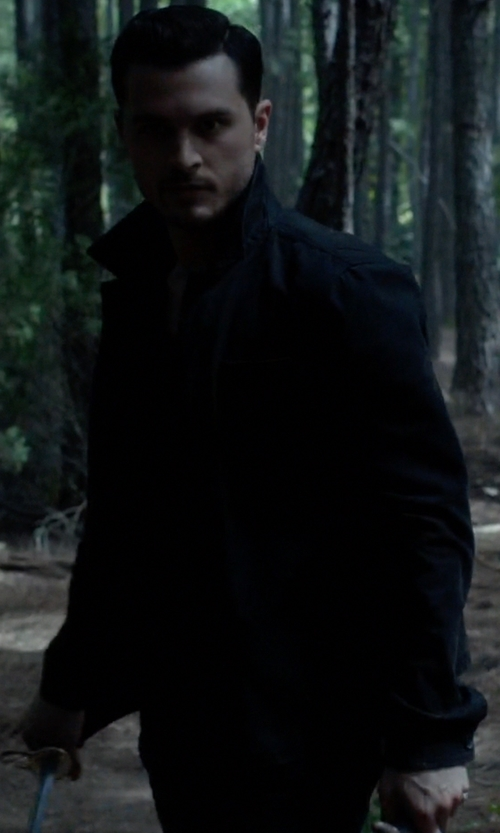 Michael Malarkey with Ben Sherman Dry Wax Coated Field Jacket in The Vampire Diaries