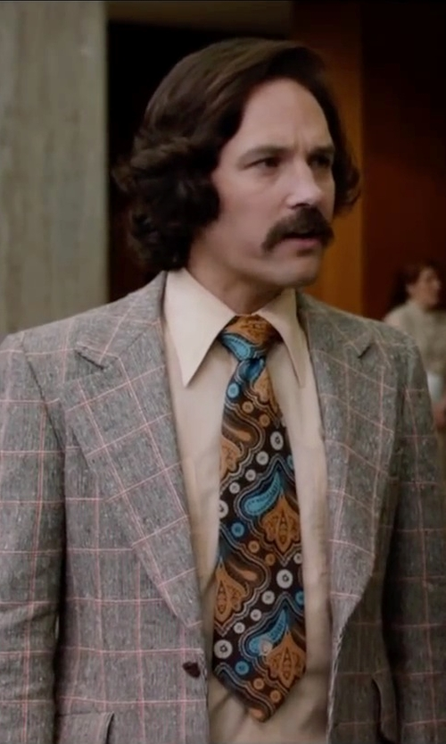 Paul Rudd with Thomas Pink Somers Suit Trousers in Anchorman 2: The Legend Continues