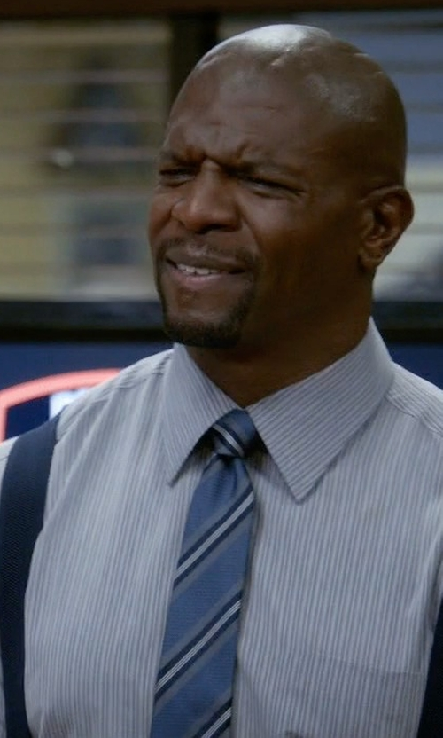 Terry Crews with Eton Two Tone Striped Silk Tie in Brooklyn Nine-Nine