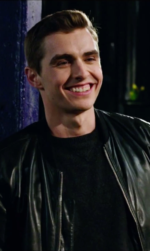 Dave Franco with Versace Black Leather Jacket in Now You See Me 2