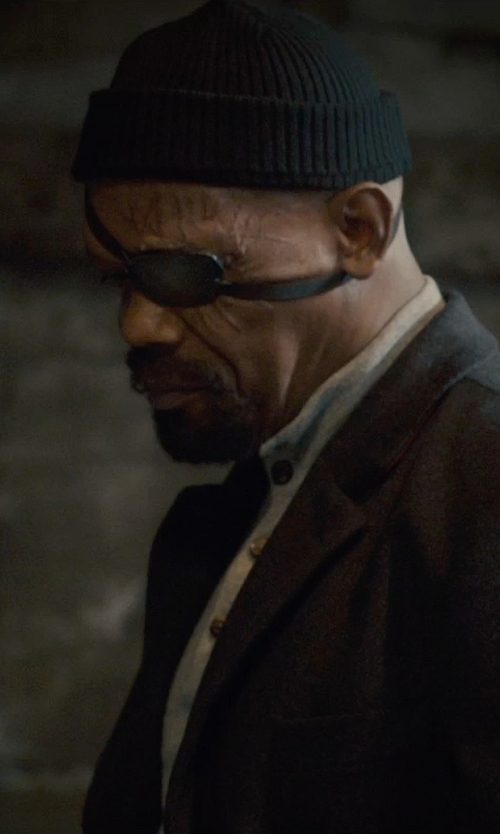 Samuel L. Jackson with Under Armour Basic Knit Beanie in Avengers: Age of Ultron