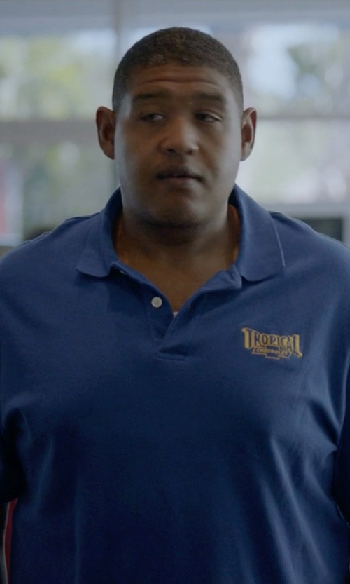 Omar Benson Miller with Woolrich First Forks Polo Shirt in Ballers