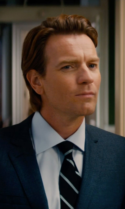 Ewan McGregor with Brioni Stripe Tie in Mortdecai
