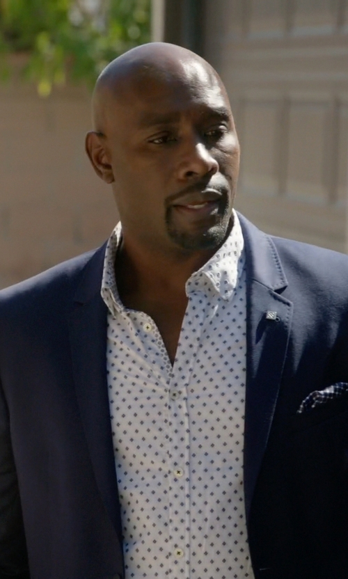 Morris Chestnut with Maurizio Baldassari Hopsack Two-Button Sportcoat in Rosewood