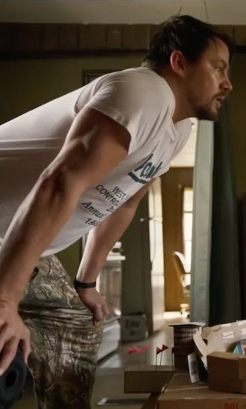Channing Tatum with Krumba Camouflage Pants in Logan Lucky