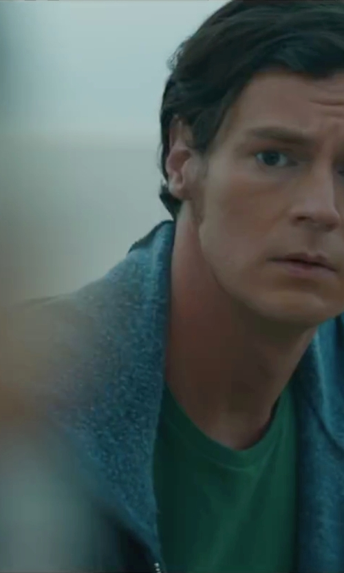Benjamin Walker with James Perse Cotton-Jersey T-Shirt in The Choice
