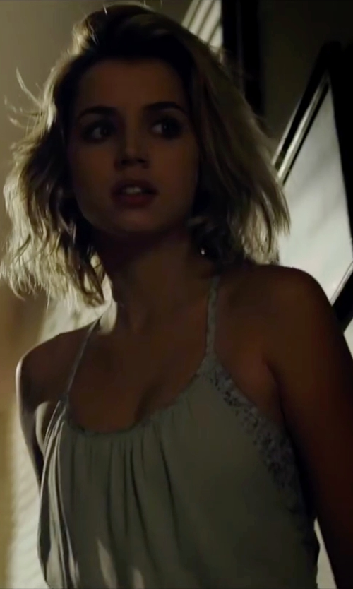 Ana de Armas with Mes Demoiselles Embroidered Cami in Knock Knock