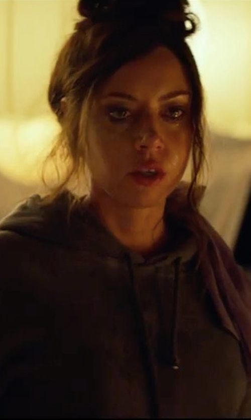 Aubrey Plaza with The North Face Motivation Classic Hoodie in Ingrid Goes West