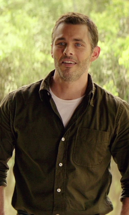 James Marsden with Civilianaire 1 Pocket Shirt in The Best of Me