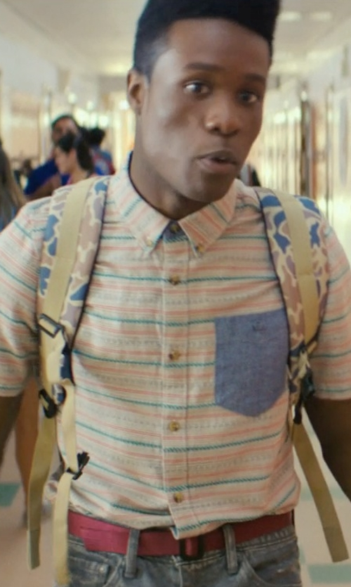 Shameik Moore with Volcom Circle Web Belt in Dope